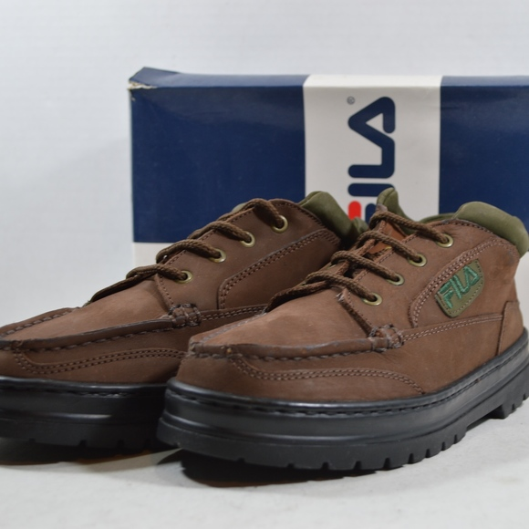 Vintage Fila 90s Womens 7 Hiking Shoes Boots Brown NWT
